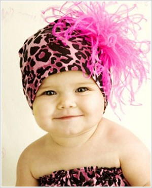 Z: Hot Pink & Black Leopard-Hot Pink Curly Beanie