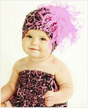 Z: Hot Pink & Black Leopard-Candy Pink Curly Beanie