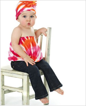 Z: Orange/Pink Tie Dye Pipette & Hat Set