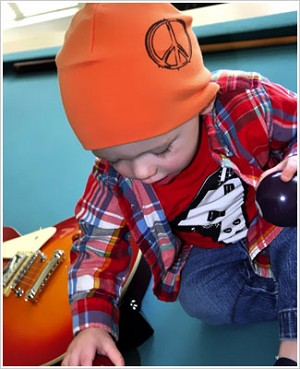 Z: Orange Peace Screen Print Beanie