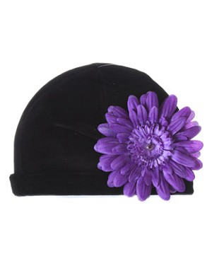 Z: Black Velvet Daisy Hat *Many Daisy Colors!*