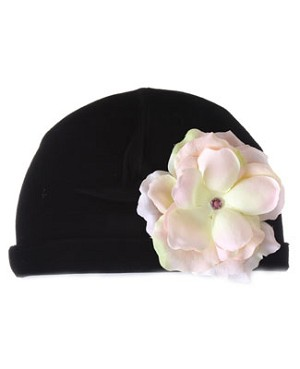 Z: Black Velvet Small Rose Hat *Many Rose Colors!*