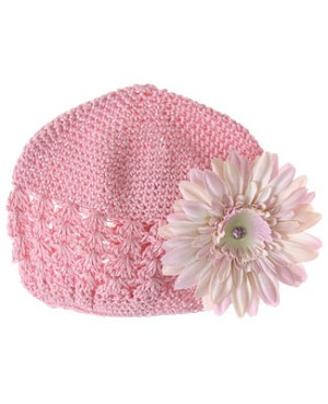 Z: Crochet Candy Pink Daisy Hat *Many Daisy Colors!*