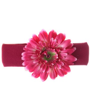 Z: Raspberry Daisy Headband