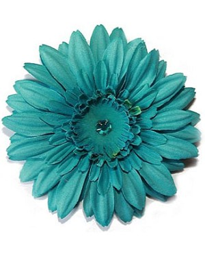 Z: Teal Daisy Bloom