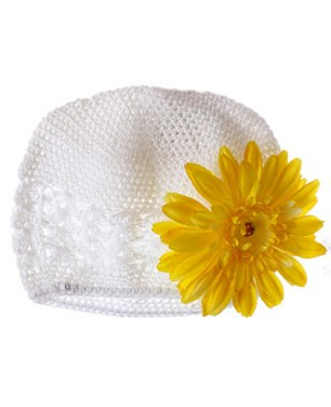 Z: Crochet White Daisy Hat *Many Daisy Colors!*