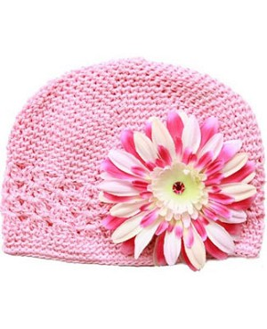Z: Crochet Candy Pink w/ Power of Pink Daisy Hat