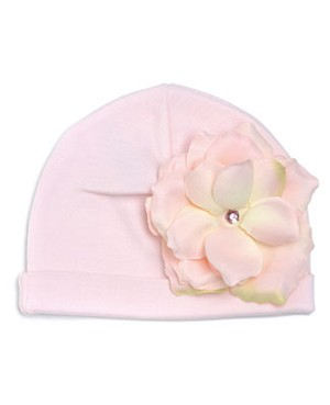 Z: Pale Pink Rose Beanie Hat
