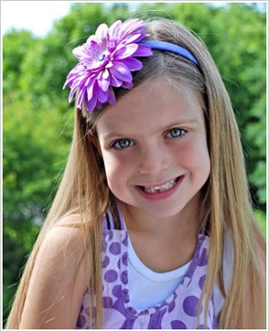 Z: Purple/Lavender Daisy Hard Headband