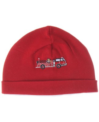 Z: Red W/ Fire Truck Beanie Hat