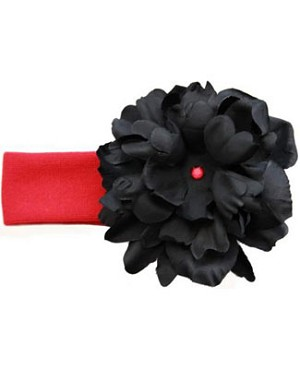 Z: Red w/ Black Peony Headband
