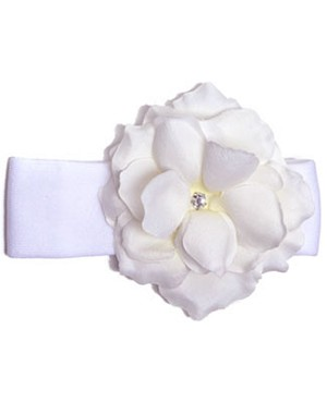Z: White Rose Headband