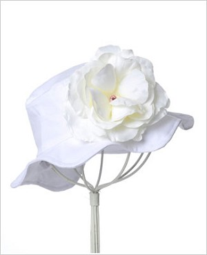 Z: White Small Rose Sun Hat *Many Rose Colors!*