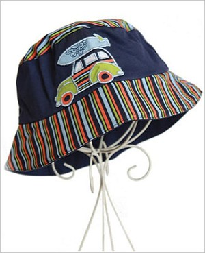 Z: Navy Blue Boys Woody Sunhat