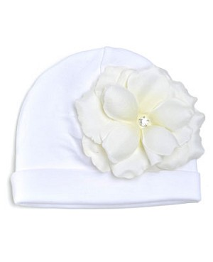 Z: White Velvet Large Rose Hat *Many Rose Colors!*