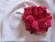 Z: White Velvet Small Rose Hat *Many Rose Colors!*