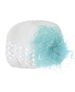 Z: Crochet White Curly Marabou Hat *Many Colors!*