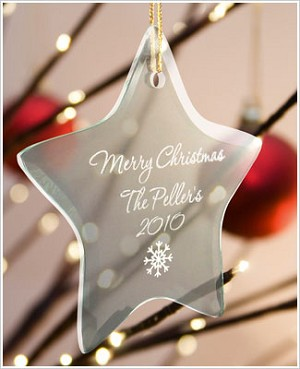 JDS *PERSONALIZED* Glass Star Ornament
