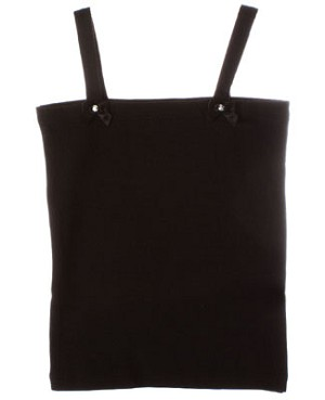 Kaiya Eve Black Basic Strappy Top w/ Bows & Jewels