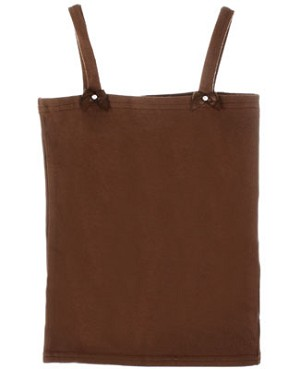 Kaiya Eve Brown Basic Strappy Top w/ Bows & Jewels