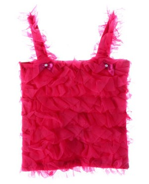Kaiya Eve Raspberry Ruffle Fluff Top w/ Bows