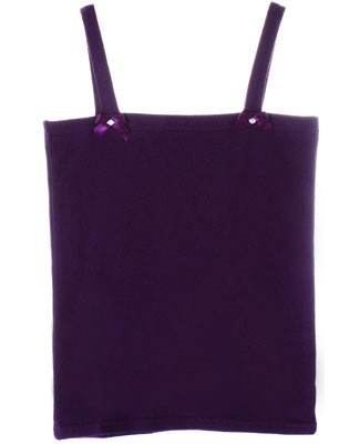 Kaiya Eve Plum Basic Strappy Top w/ Bows & Jewels