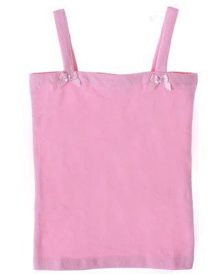 Kaiya Eve Pink Basic Strappy Top w/ Bows & Jewels