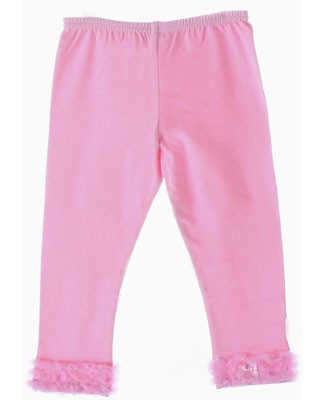 Kaiya Eve Pink Ruffle Hem Leggings w/ Bow