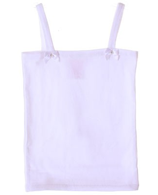 Kaiya Eve White Basic Strappy Top w/ Bows & Jewels