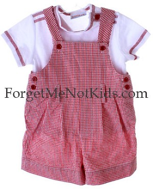 Kate Mack *ROSES ARE RED* Boys Shortall and Tee Set