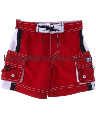 Bobby Mack *LE PETIT SAILOR* Red Board Shorts