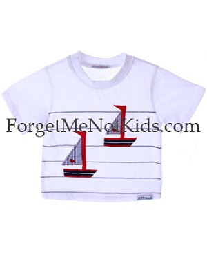 Bobby Mack *LE PETIT SAILOR* White Stripe Tee Shirt