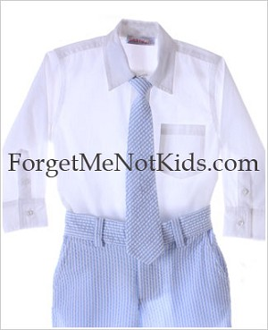 Bobby Mack *NANTUCKET* White Shirt w/ Blue Tie