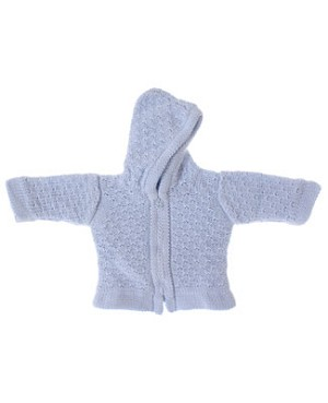 Kissy Kissy Light Blue Double Diamond Hooded Cardigan