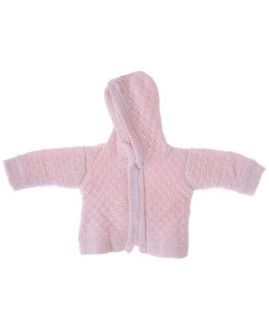 Kissy Kissy Pink Double Diamond Hooded Cardigan