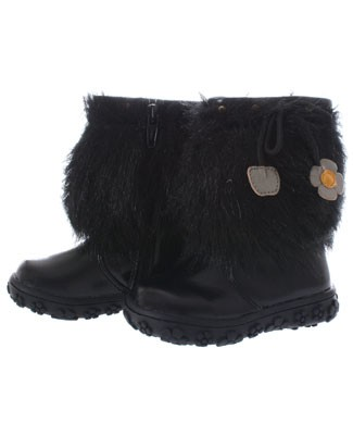 FS: L'Amour Black Fur With Flower Boot