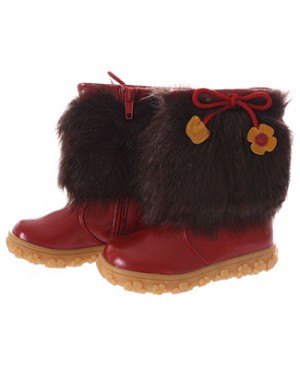 FS: L'Amour Red Fur With Flower Boot