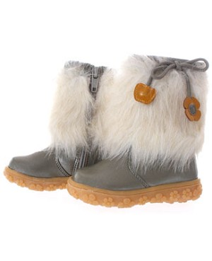 FS: L'Amour Silver Fur With Flower Boot