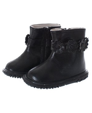 FS: L'Amour Black Flower Toddler Boot