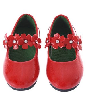 Z: L'Amour RED Patent Flower Mary Jane Shoes