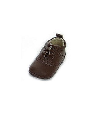 Z: L'Amour BROWN on BROWN Lace-Up Baby/Toddler Saddle Shoe