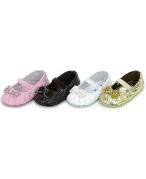 Z: L'Amour PINK Princess Baby Shoes w/ Velvet Bow