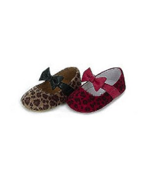 Z: L'Amour BROWN Cheetah Print Baby Shoes w/ Bow