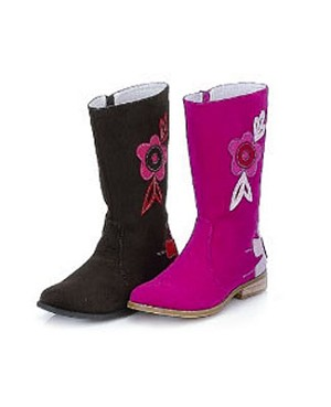 Z: L'Amour BROWN Flower Power Tall Boots