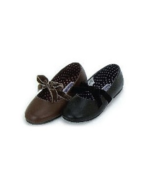 Z: L'Amour BROWN Velvet Bow Flat Shoes