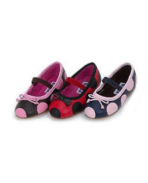 Z: L'Amour BROWN/PINK Polka Dot Ballerina Shoe