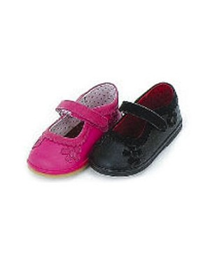 Z: L'Amour FUCHSIA Shoes w/ Scalloped Trim and Flowers
