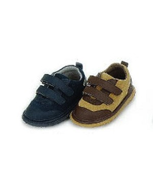 Z: L'Amour Boys TAN/BROWN Double Velcro Strap Toddler Shoes