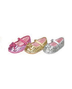 Z: L'Amour GOLD Large Bow Glitter Shoes