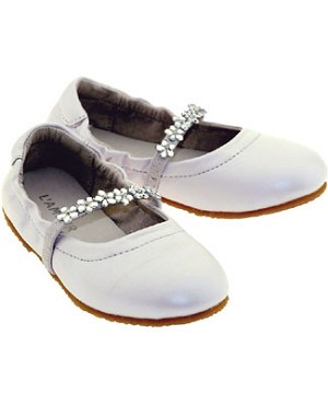 Z: L'Amour WHITE Slip On Shoes with Beaded Strap